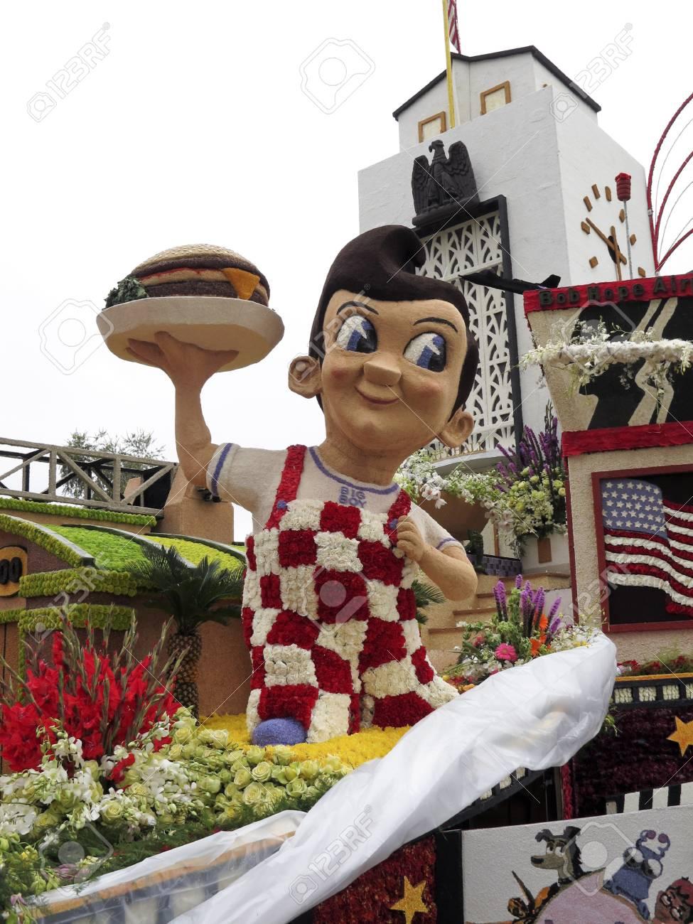 PASADENA, CA - JANUARY 1: The City of Burbank 2011 Rose Bowl Parade float  Stock Photo - 8532977