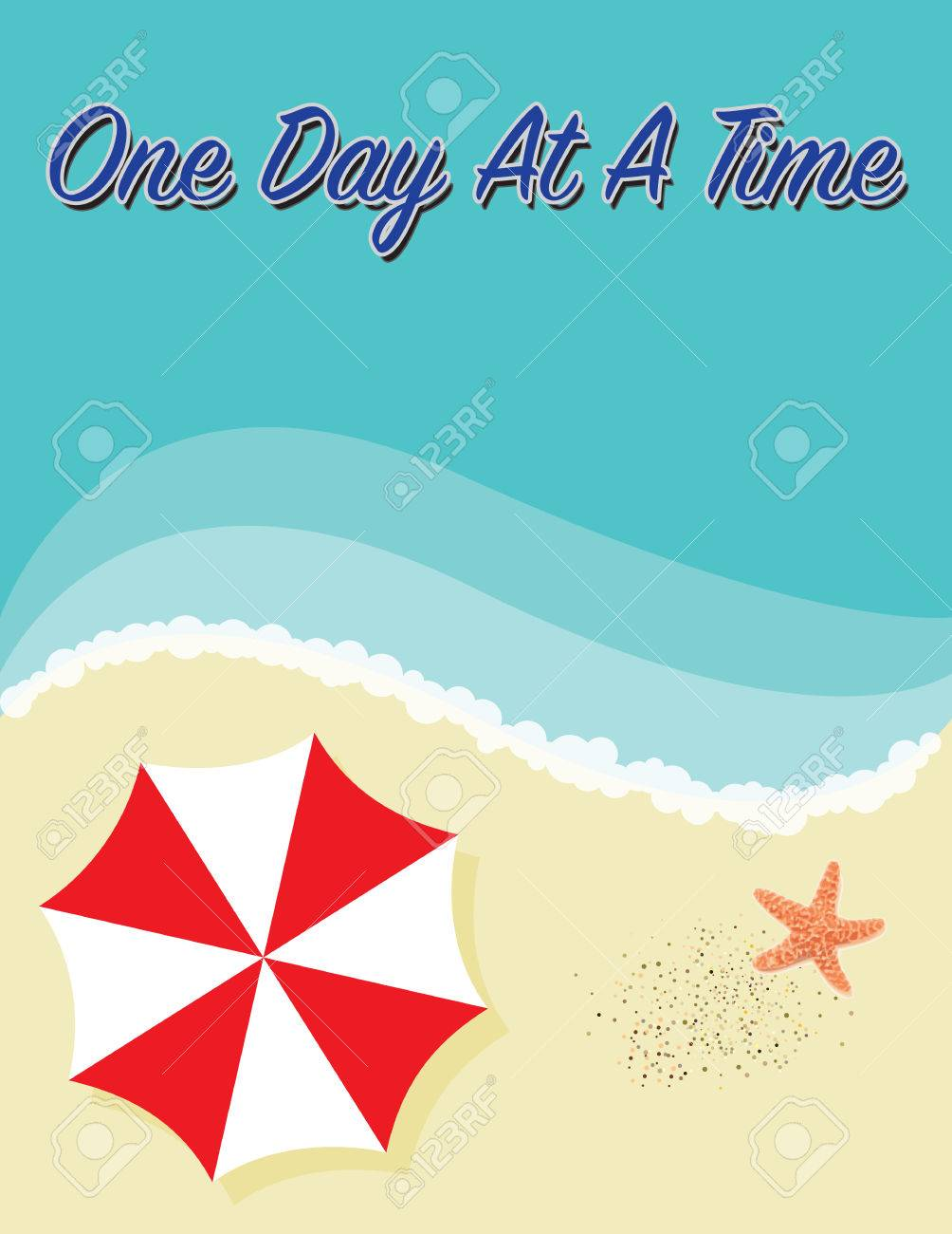 One Day At A Time Famous And Inspirational Quote Stock Photo