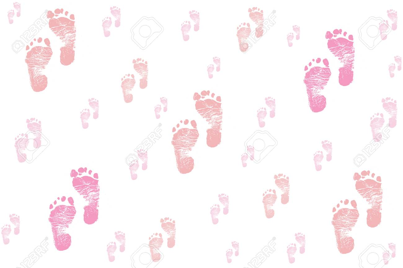 baby girl footprints background stock photo picture and royalty