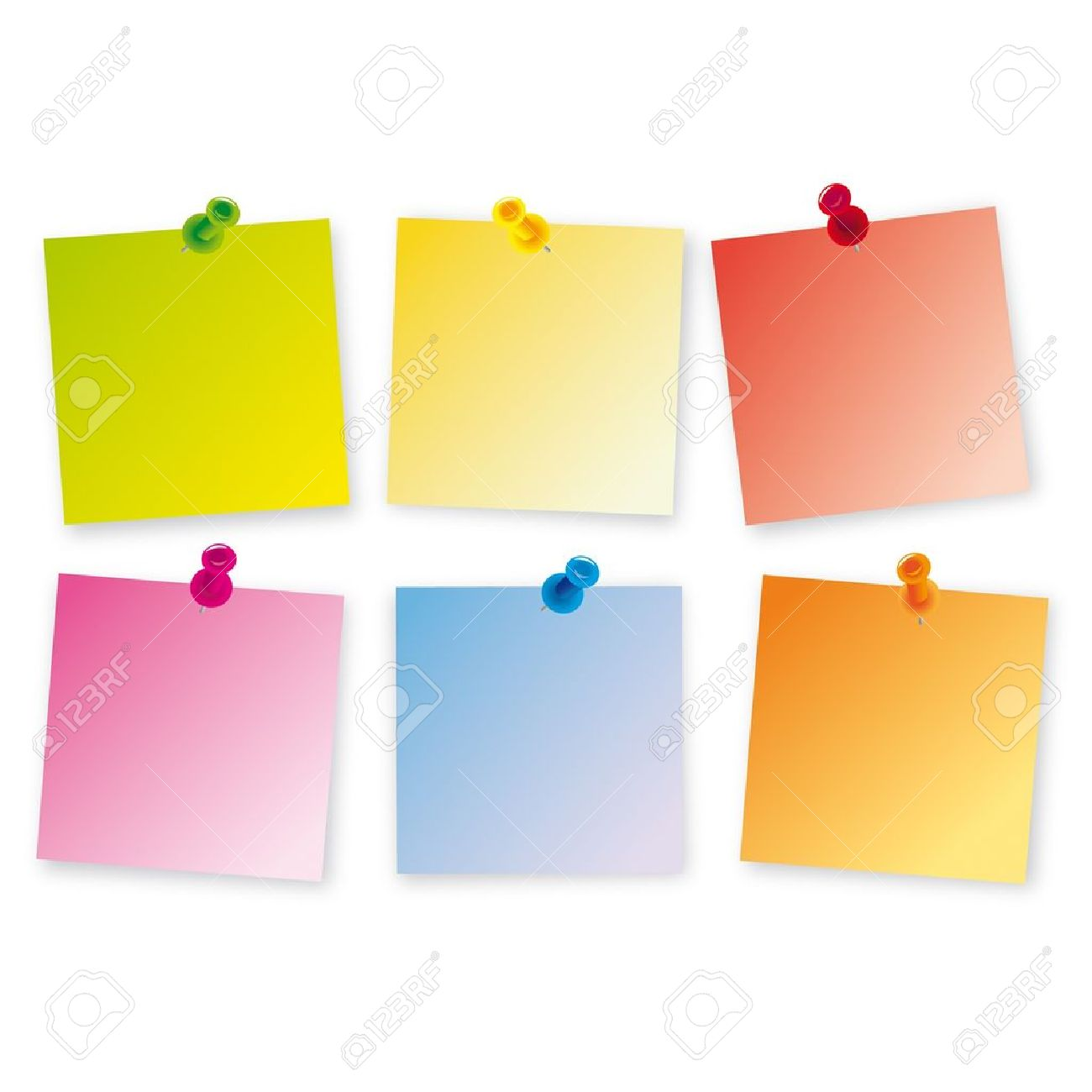 Post-it colors bug Stock Vector - 11067863