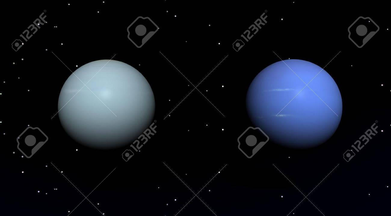 planets blue uranus and pluton - 5616717