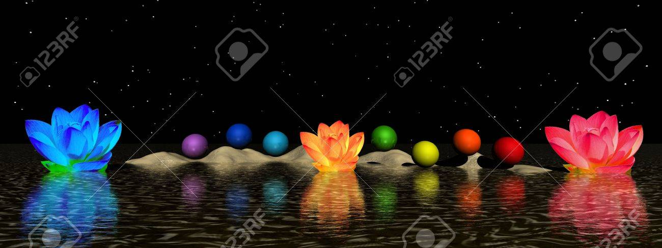 chakra and water lily Stock Photo - 11267493