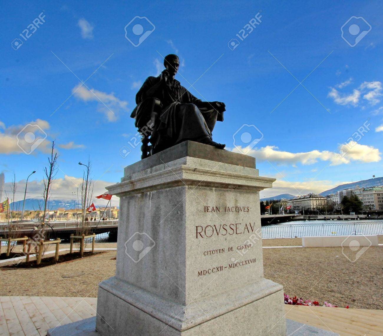 Jean Jacques Rousseau, Geneva, Switzerland - 12092147