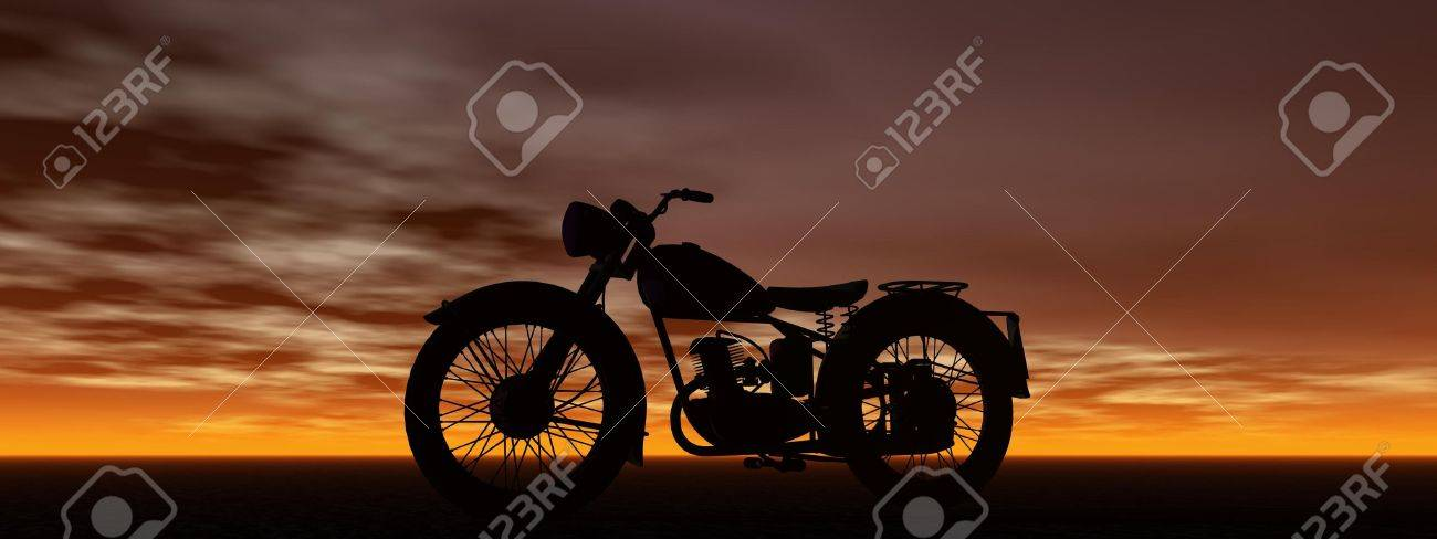 motorbike and sky Stock Photo - 13022957