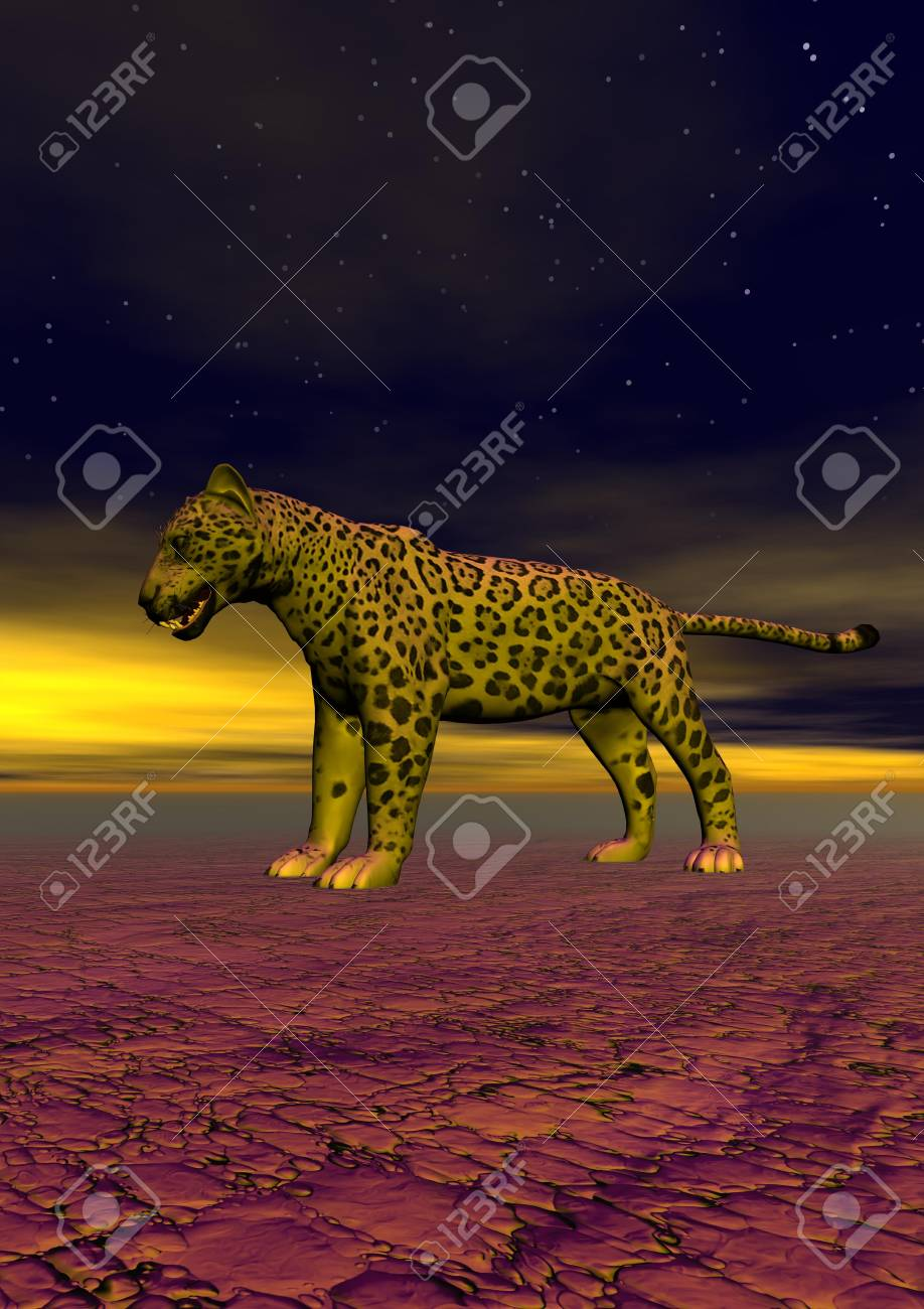 panther and sky blue Stock Photo - 14837044