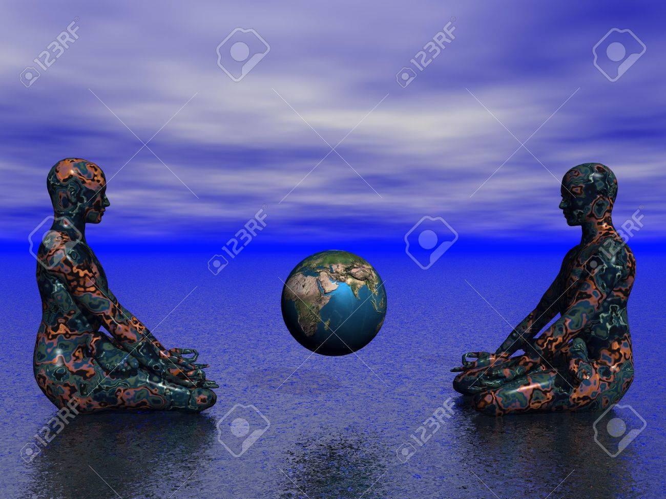 buddha and earth - 16443290