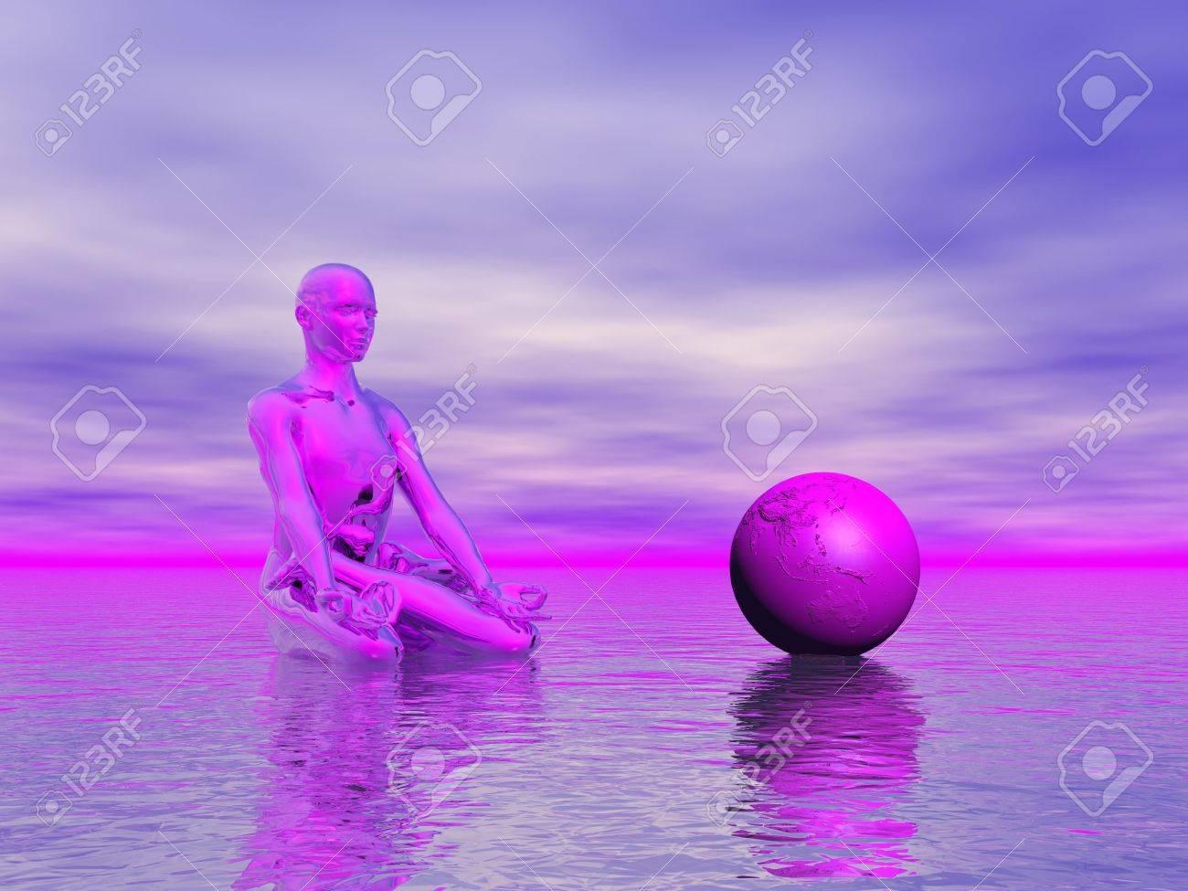 chakra purple Stock Photo - 16798719