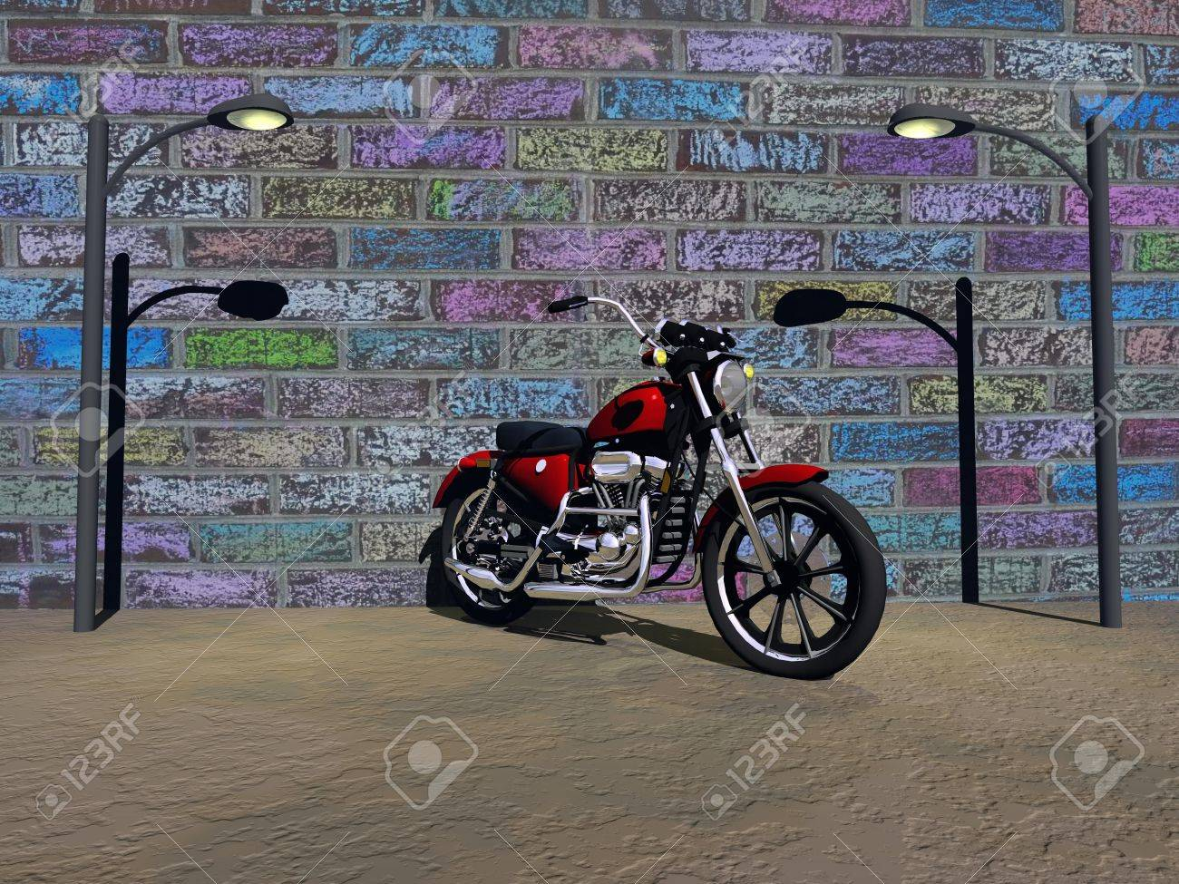 motorbike red Stock Photo - 17717775