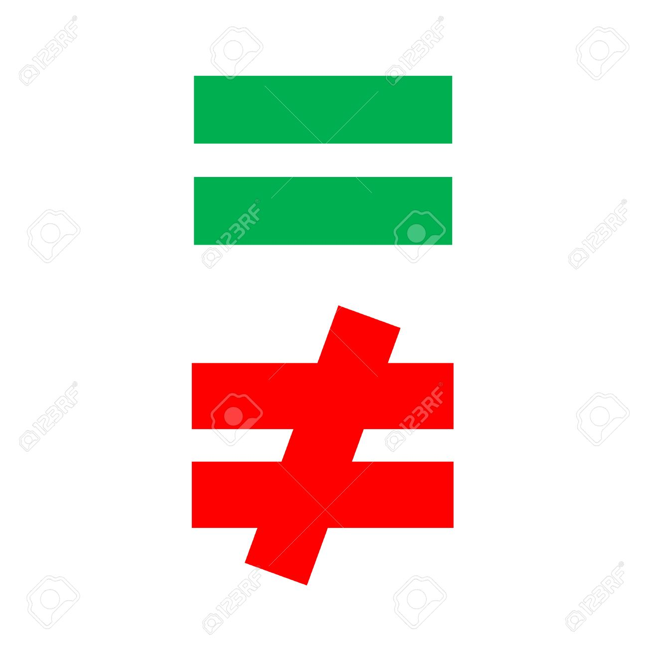 Mathematical equal and difference green red stock photo picture mathematical equal and difference green red stock photo 22851755 buycottarizona