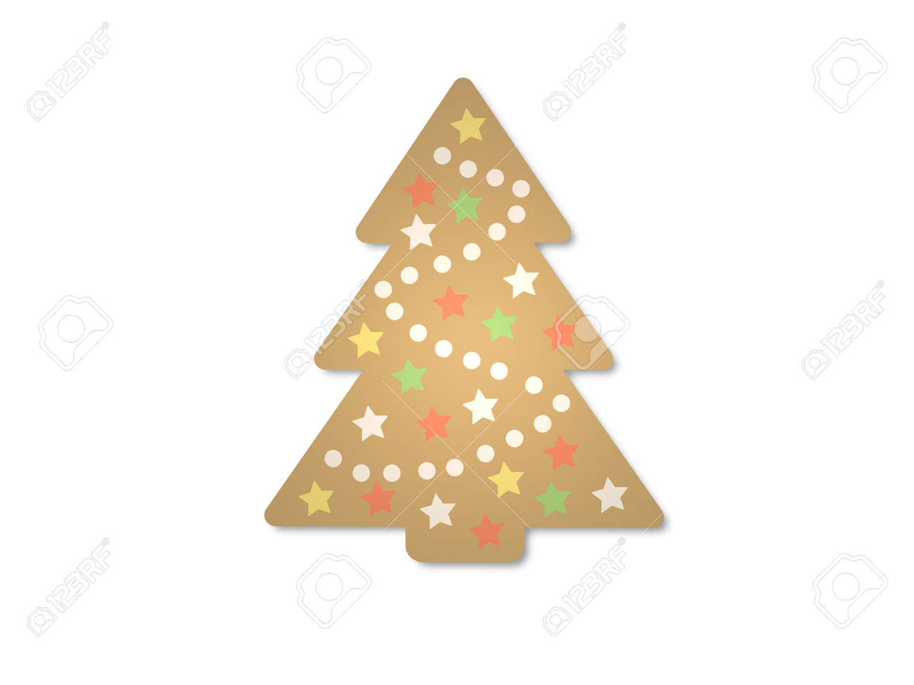 christmas tree on white background - 3d rendering - 158829375