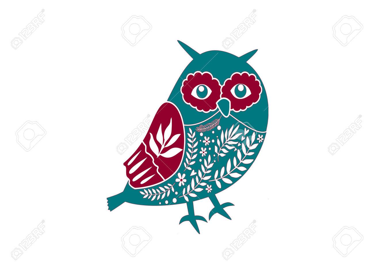 christmas owl on white background - 3d rendering - 162166038