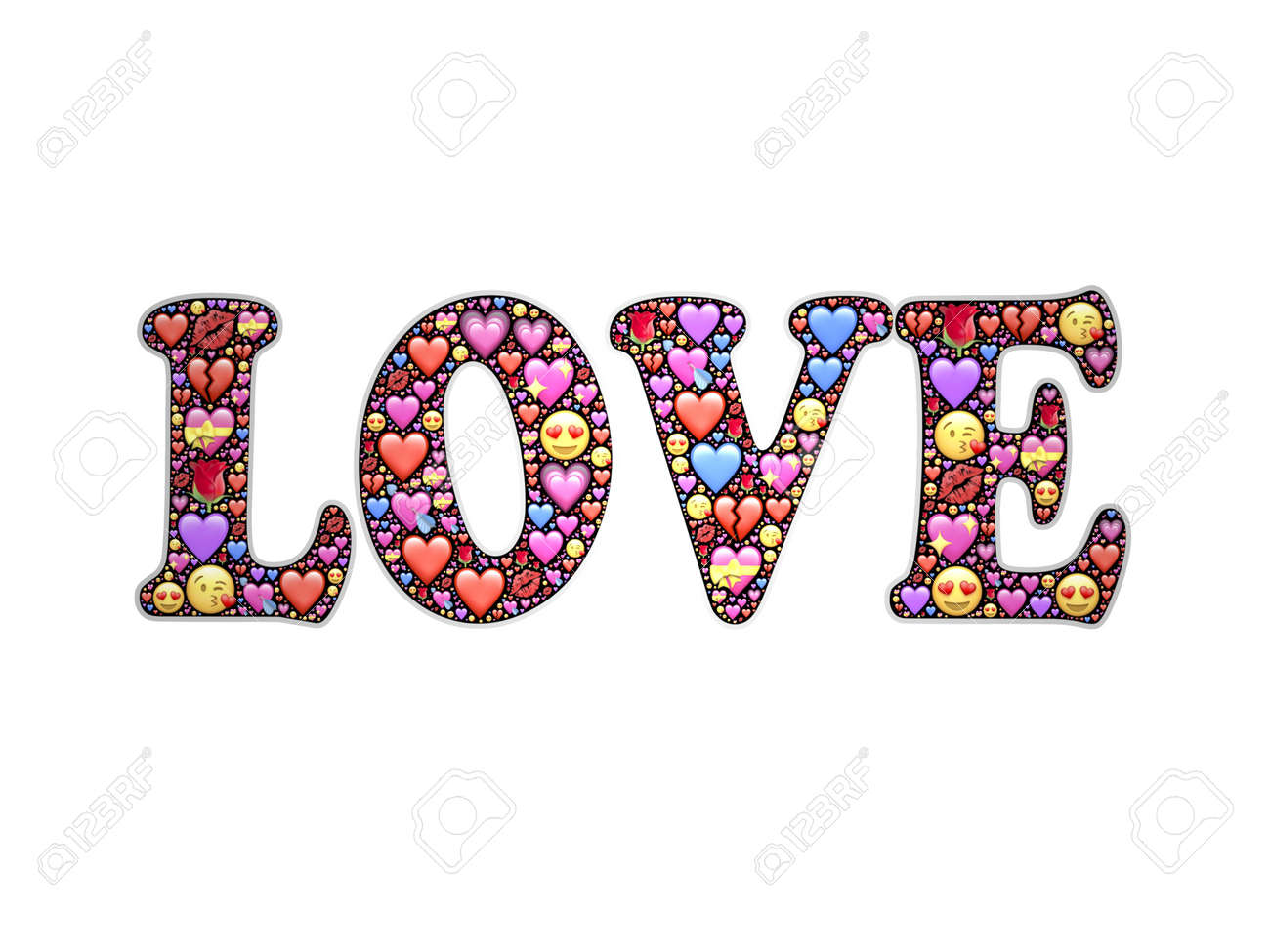 heartbeat with word love on white background - 3d rendering - 162166062