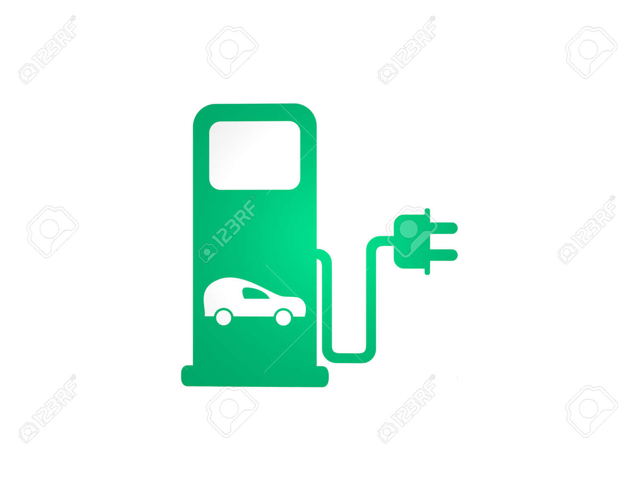 eco gasoline pump on white background - 3d rendering - 166648214