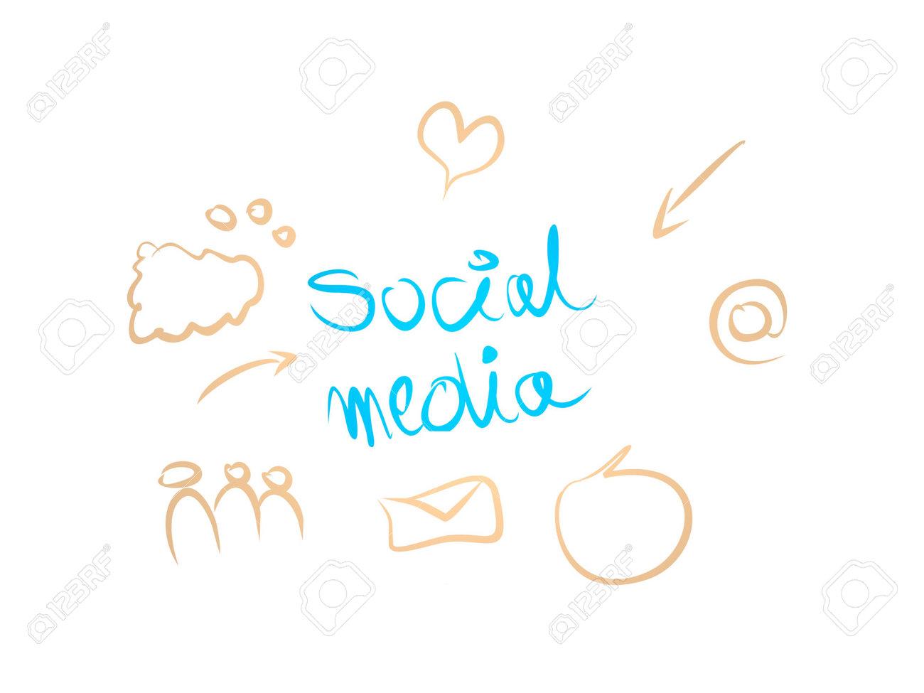 social media on white background - 3d rendering - 170721978