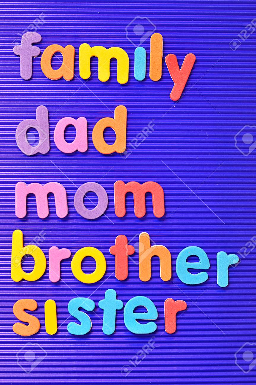brother sister mom family
