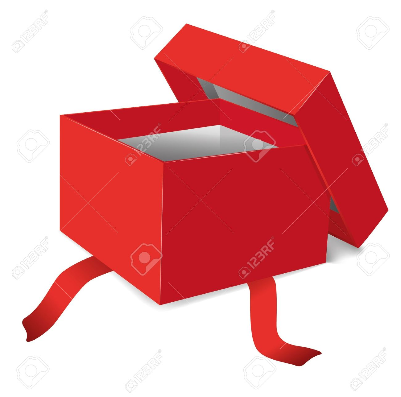 open present clipart. red opened gift box vector illustration stock 9844574 open present clipart