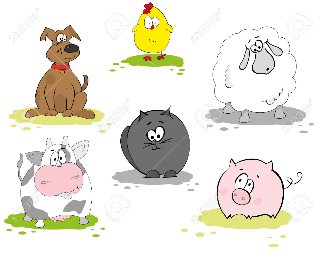 Set of domestic animal Stock Vector - 9935432