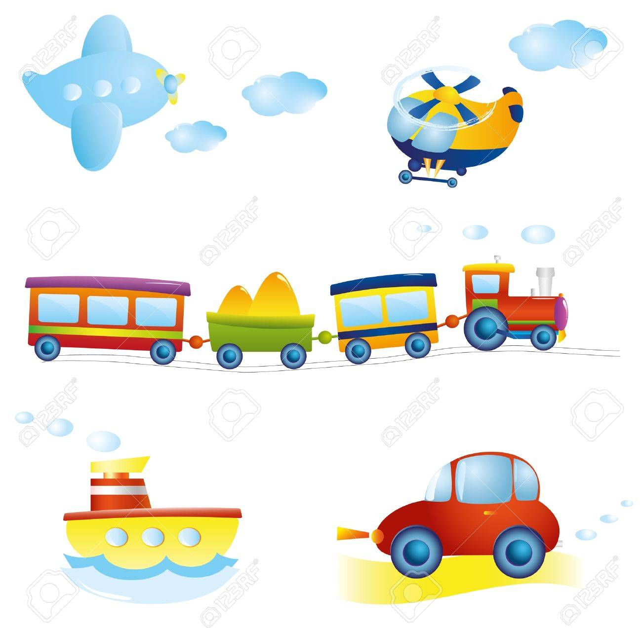 Set of types of transport Stock Vector - 9935469