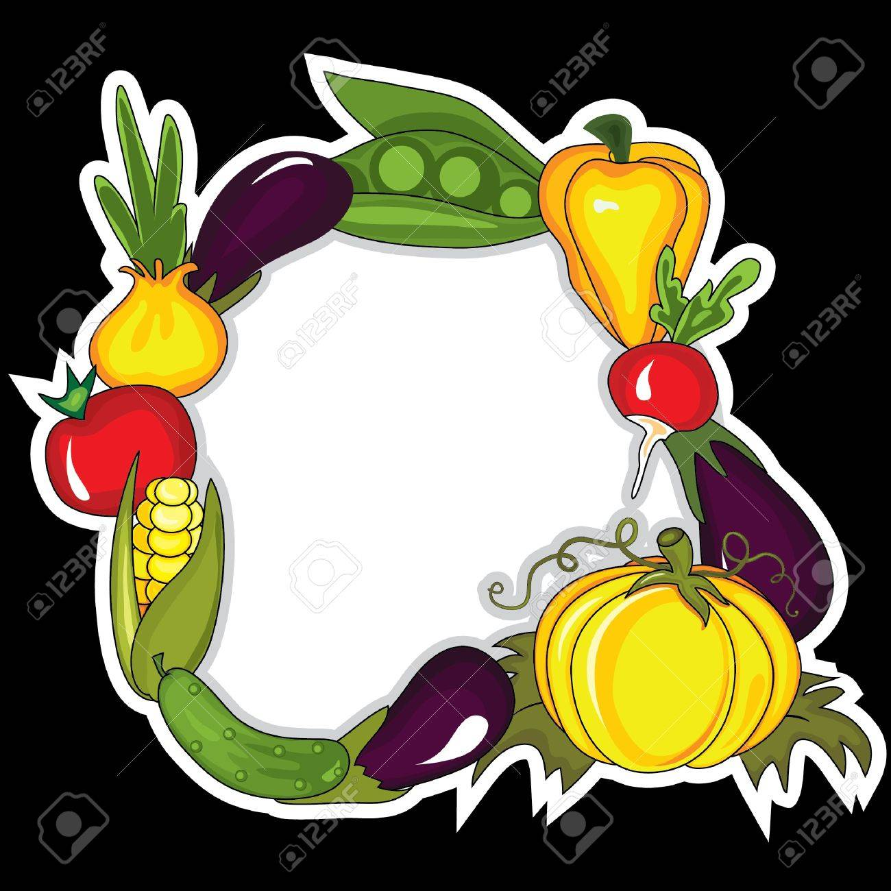 Abstract vegetables background.  Place for your text Stock Vector - 10049612