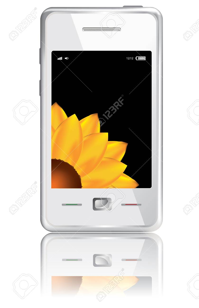 Vector touchscreen smartphone isolated on the white background Stock Vector - 10181569