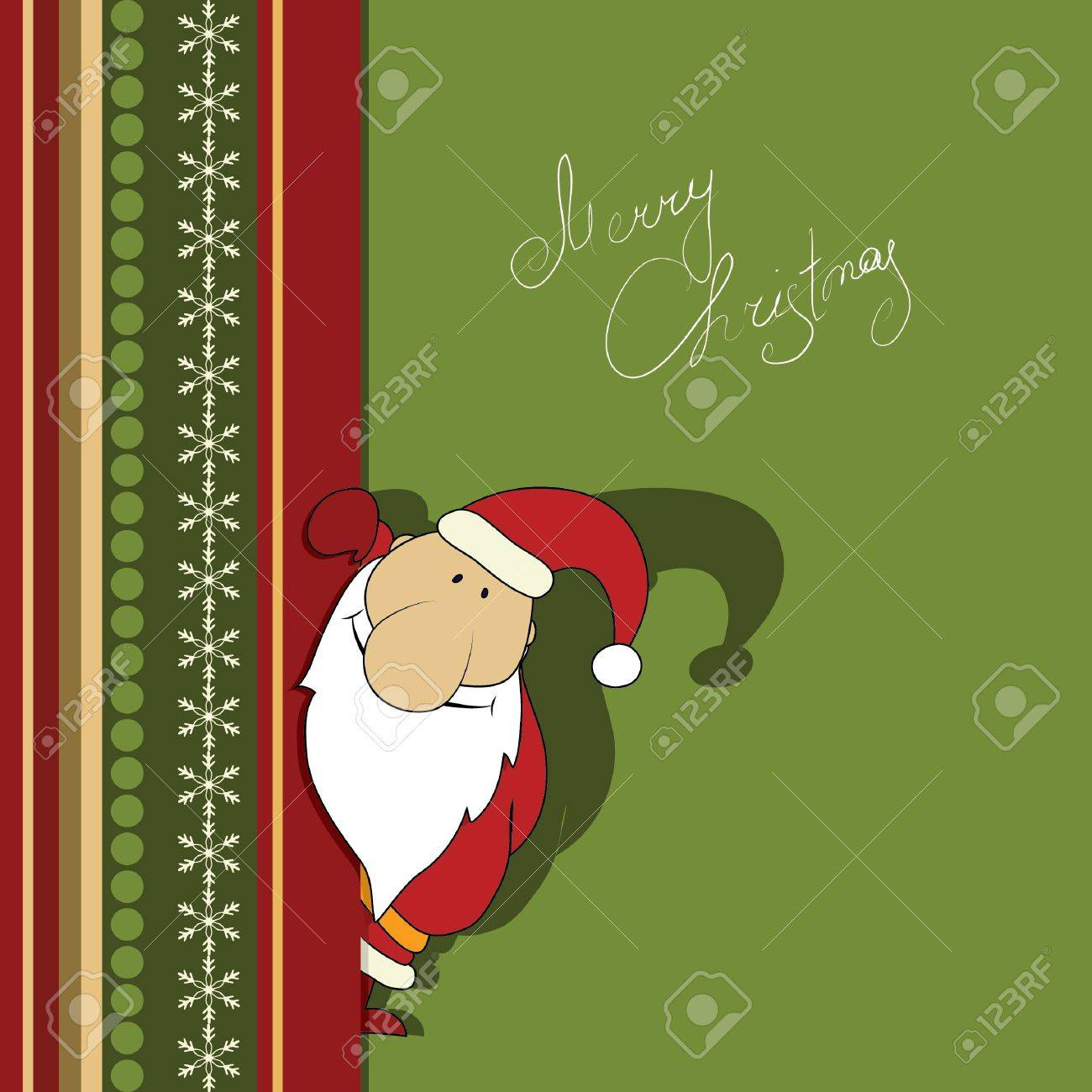 Christmas illustration with Santa. Series. Look more in my gallery Stock Vector - 10181572