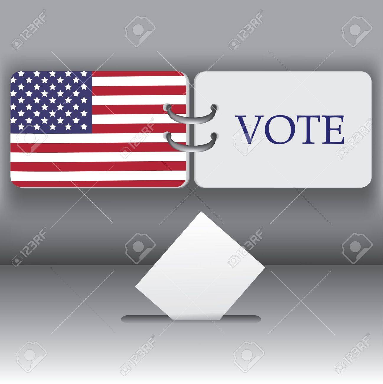 USA 2012  presidential election background Stock Vector - 10388866