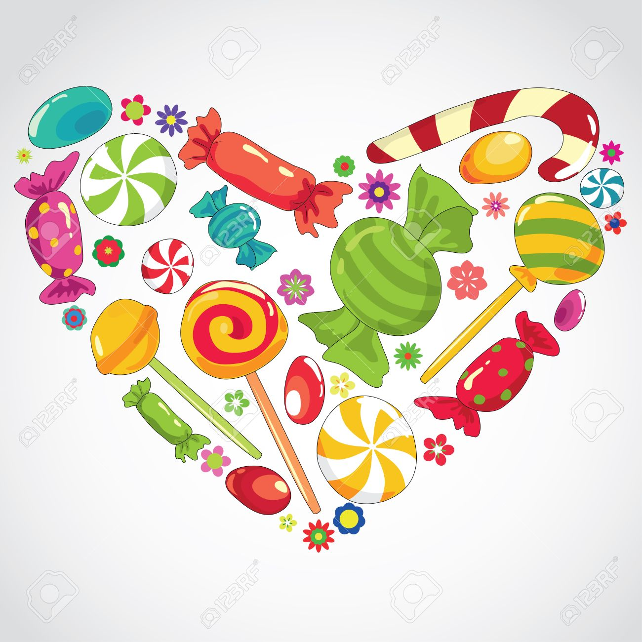 Vector illustartion of abstract sweets  candy heart Stock Vector - 10446756