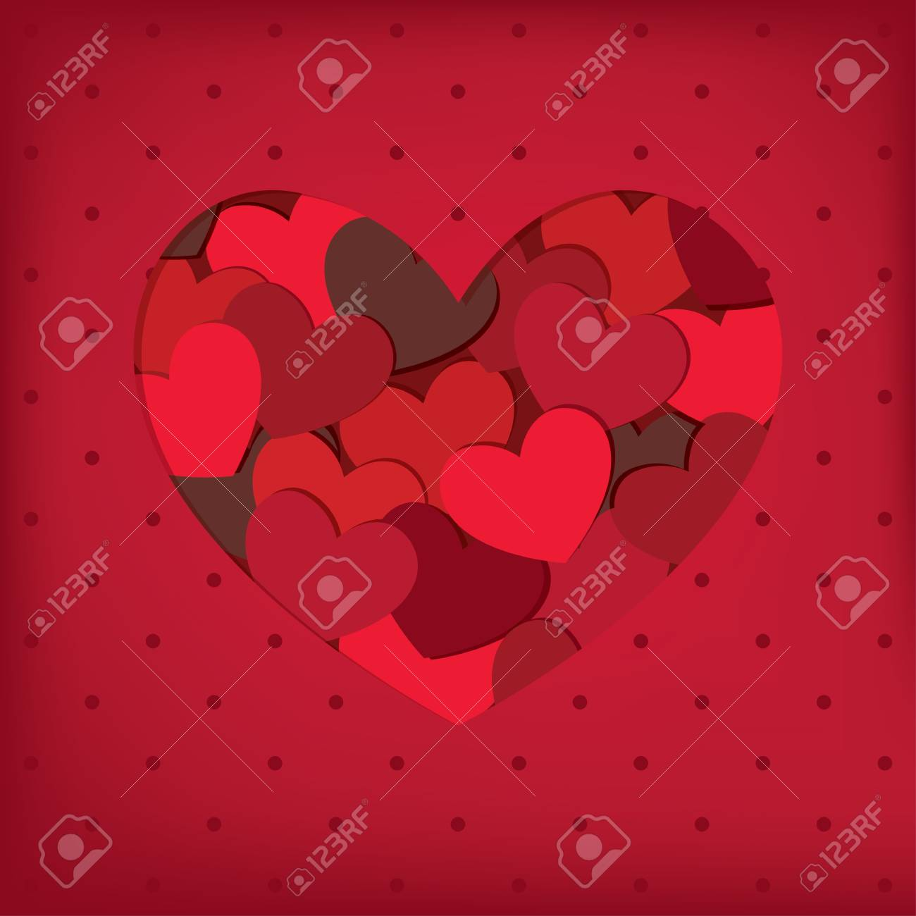 Heart frame. Valentine card. Stock Vector - 11696929
