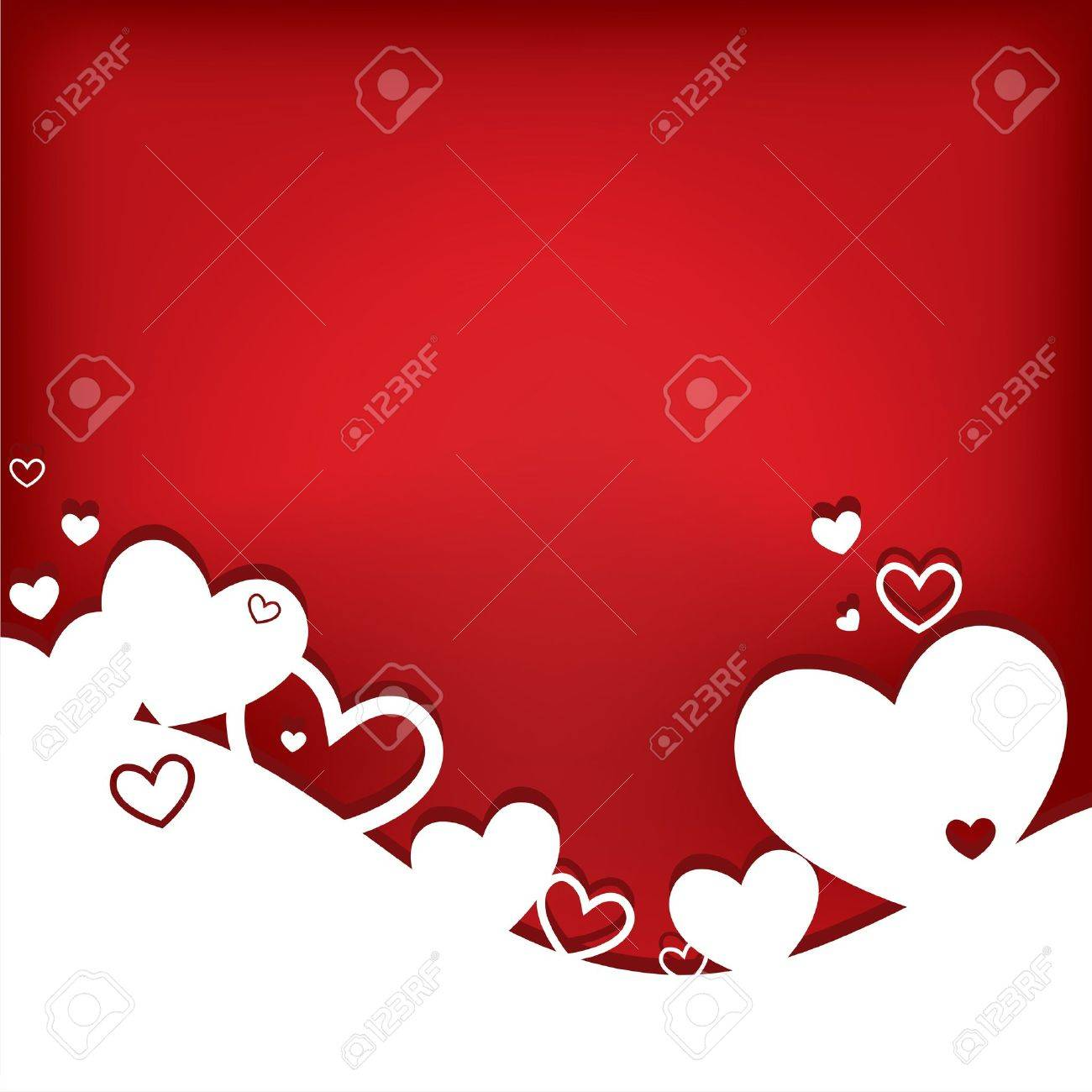 Hearts. Valentine card. Vector illustration. EPS10. Stock Vector - 11696934