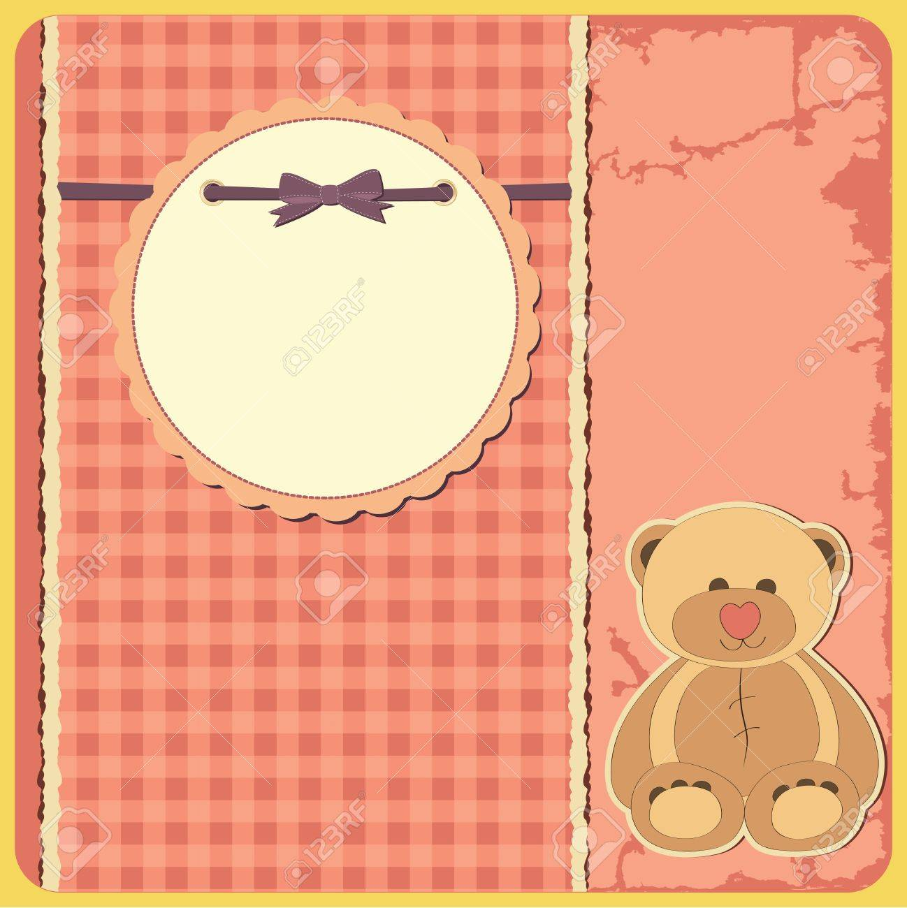 Baby shower for girl  Greeting card  Frame and place for your text or picture Stock Vector - 13319036