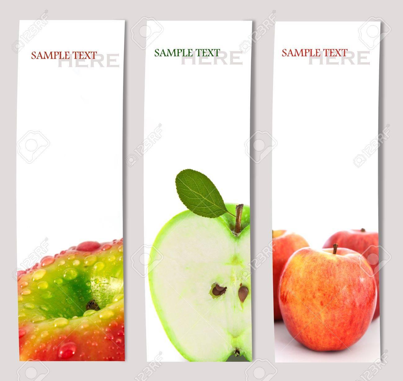 Design background of apple brochure  template Stock Photo - 14871368