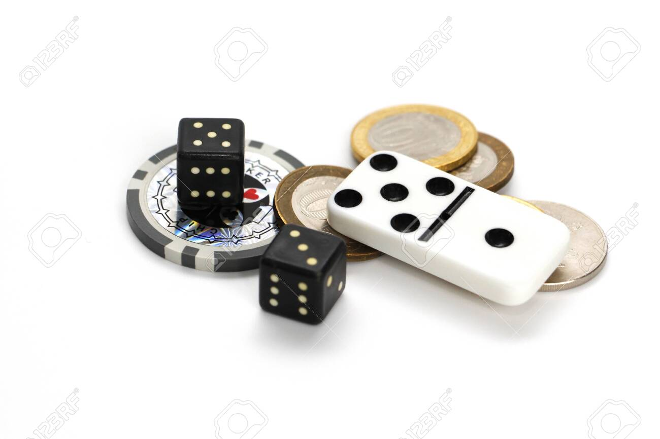 The Concept Of Gambling Addiction. Chips, Game Blocks. Games.. Stock Photo,  Picture And Royalty Free Image. Image 140332539.