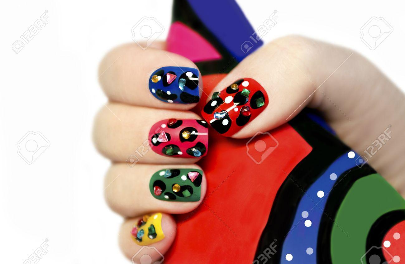 Innenarchitektur Nägel Muster Das Beste Von Bunte Maniküre Auf Nägel Mit Bunten Und