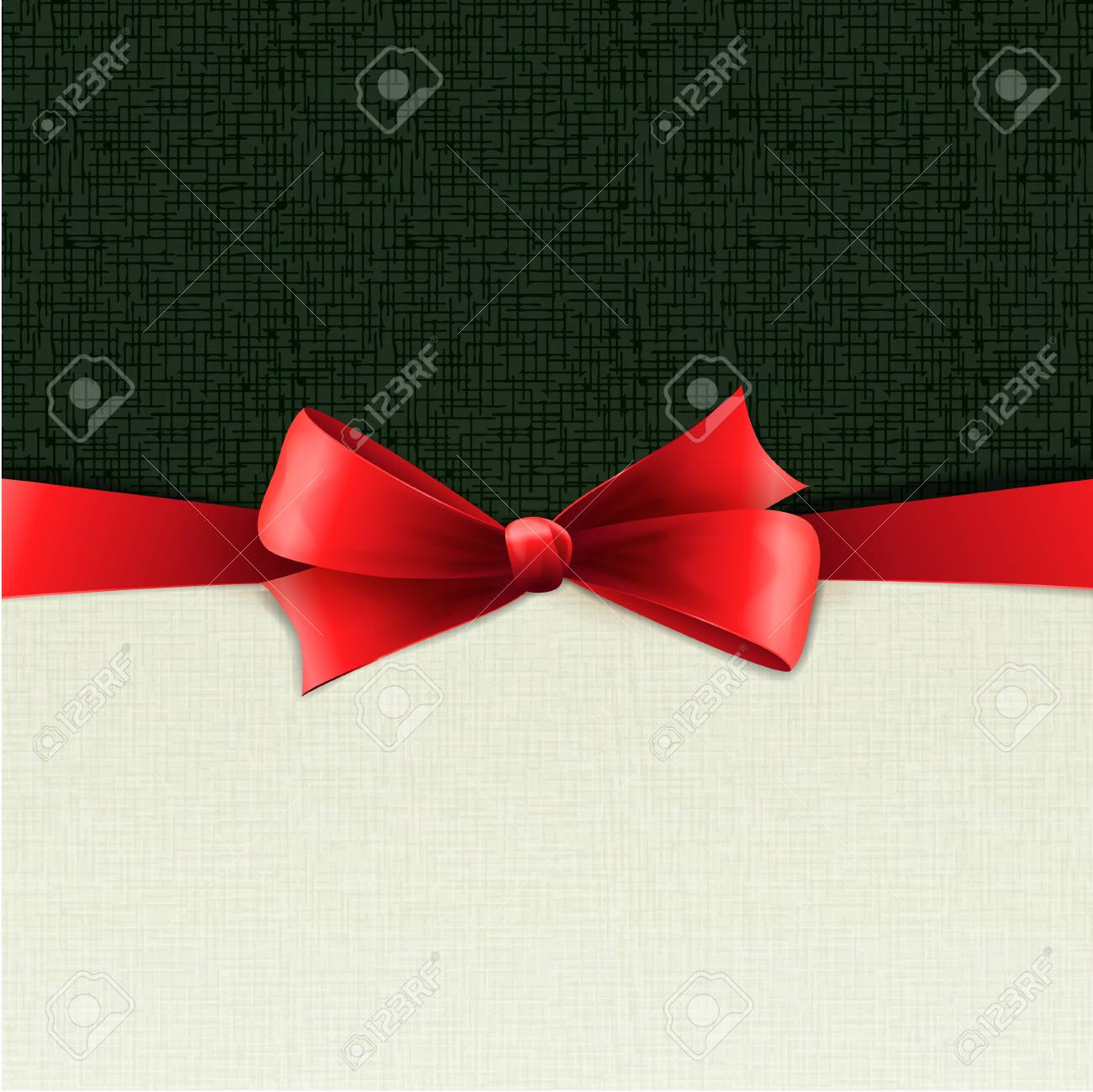 Red bow Stock Vector - 18608023