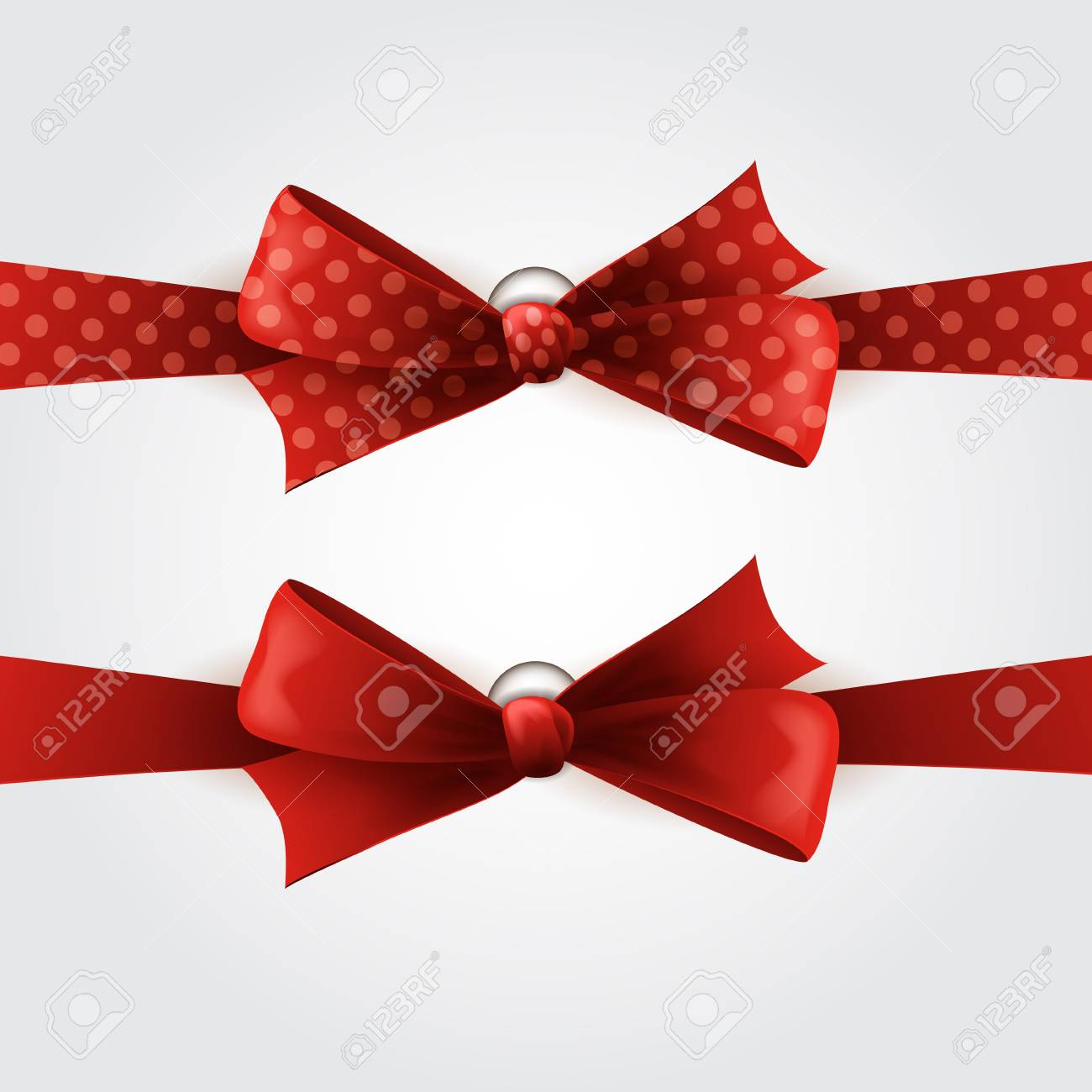 Red bow Stock Vector - 18608060