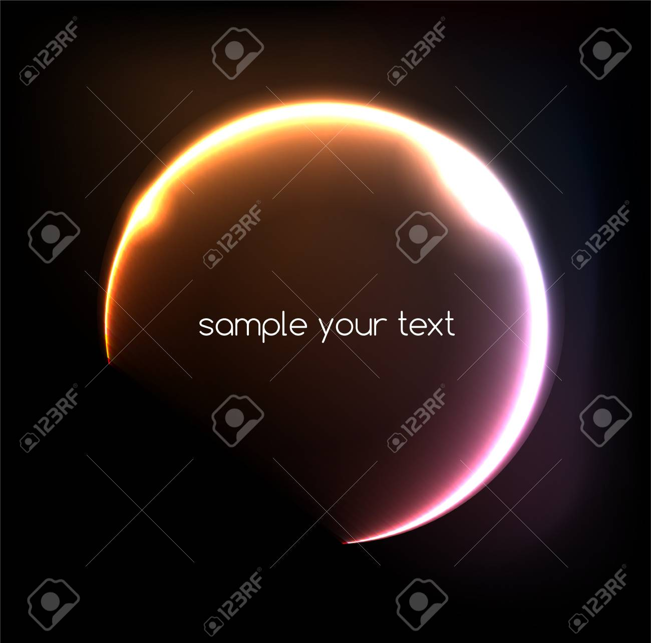 Abstract light frame background Stock Vector - 19485175