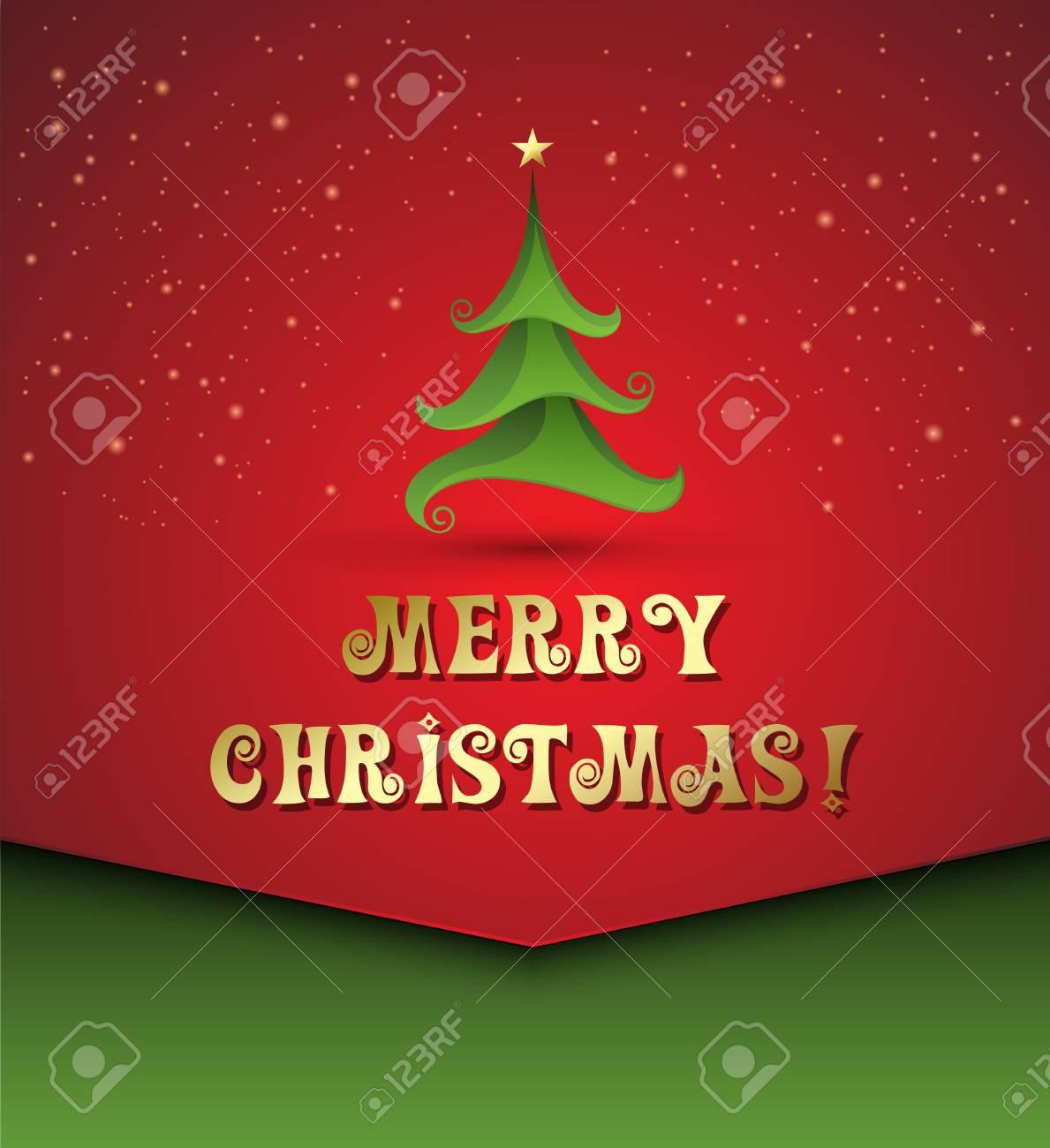 Vector illustration Christmas tree background Stock Vector - 21873235