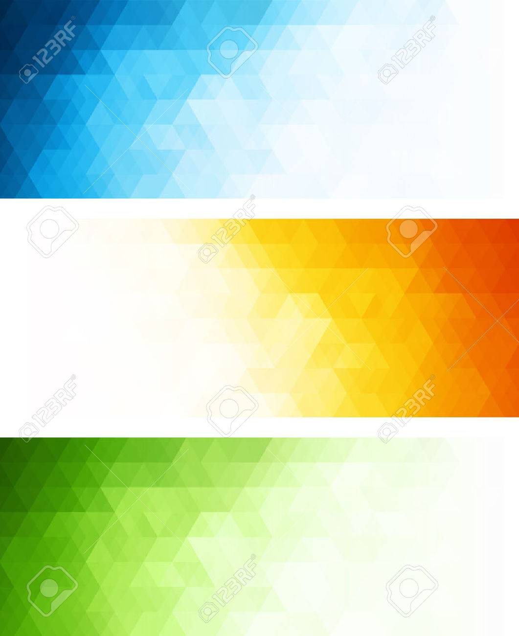 Vector color abstract geometric banner with triangle. Stock Vector - 28522244