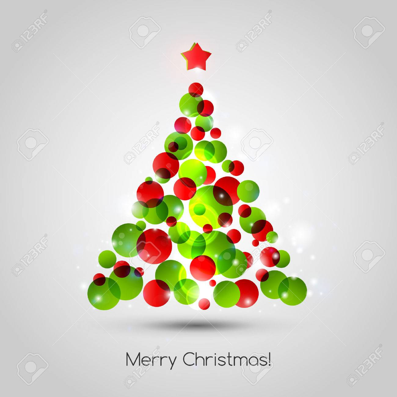 Vector Merry Christmas Tree Background. EPS 10 Royalty Free Cliparts ...