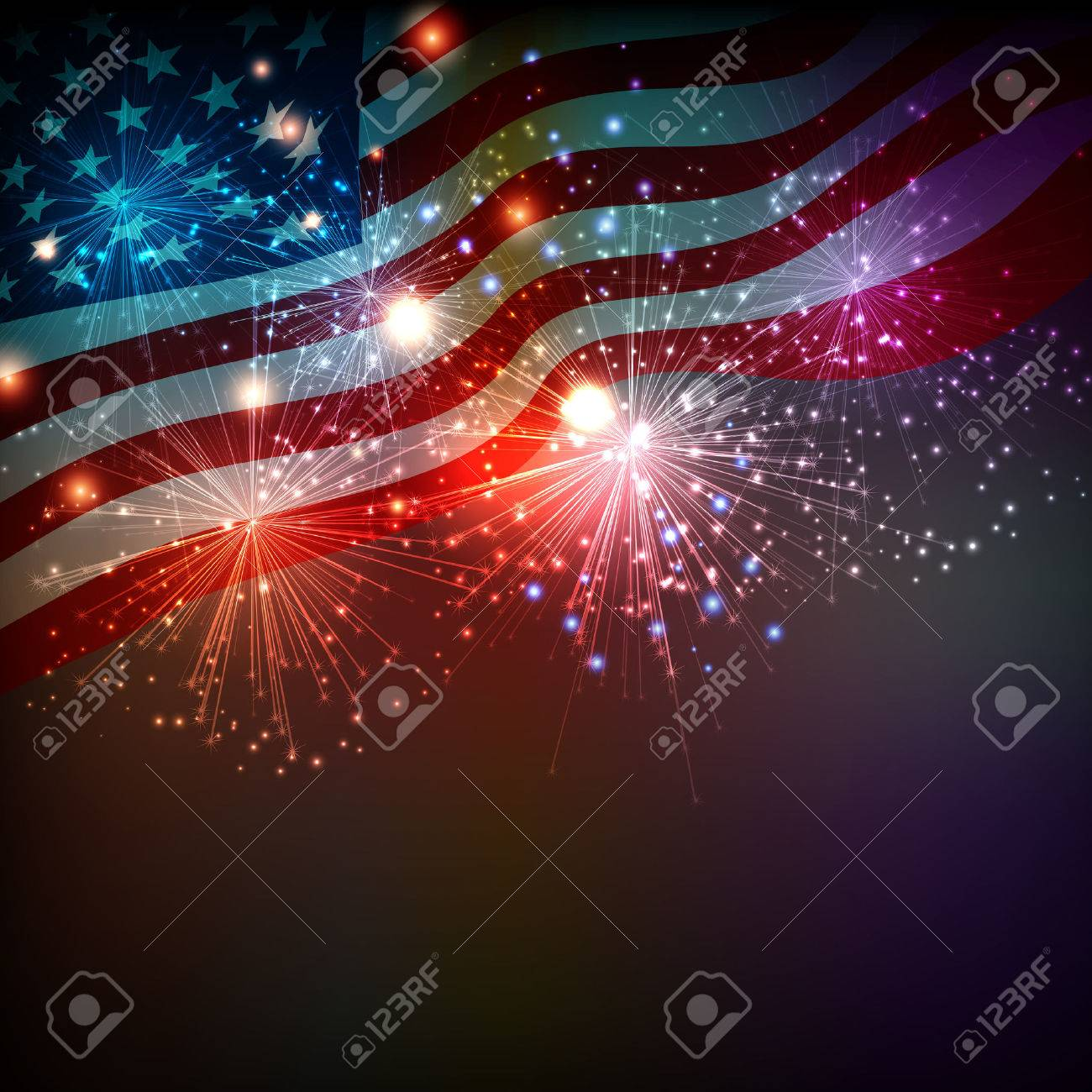 Fireworks background for 4th of July Independense Day - 40461886