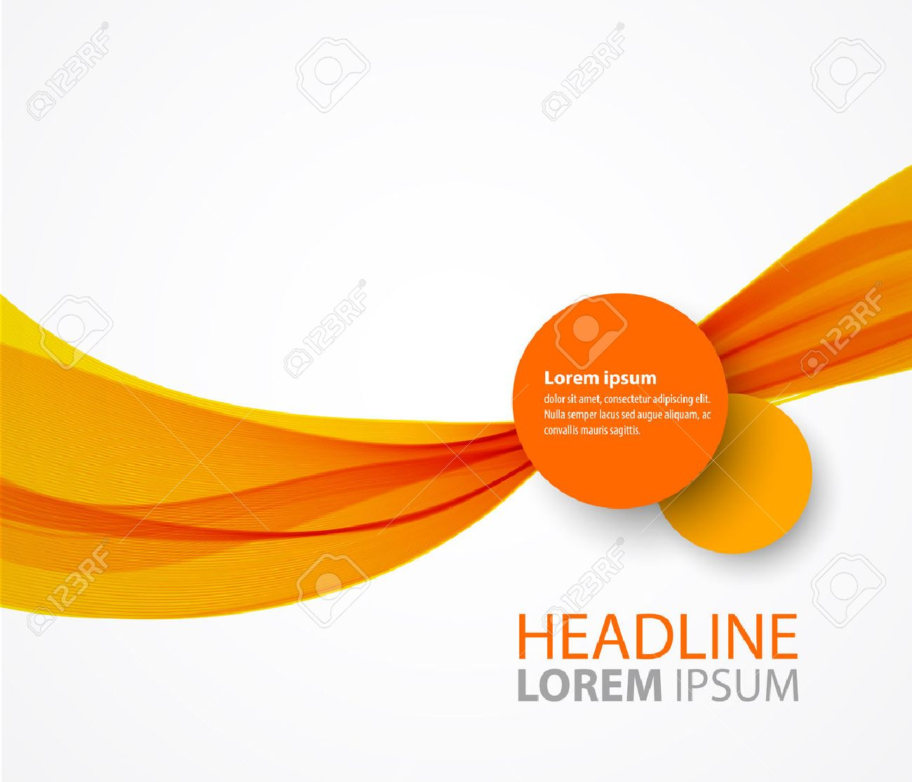 Vector abstract orange wave background for flyer design stock vector 41691703
