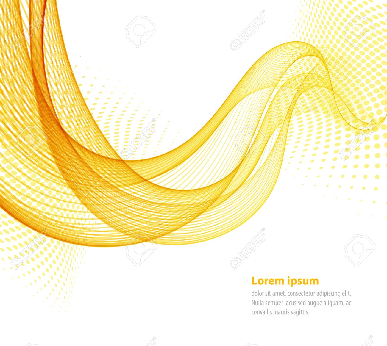 Vector smooth Yellow Transparent abstract waves For cover book, brochure, flyer, poster, magazine, website, annual report - 45352396