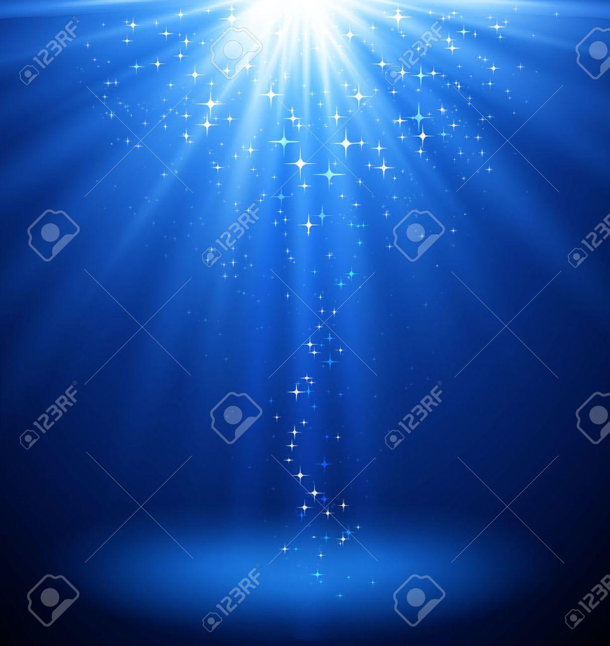 Abstract magic light background. Blue holiday burst. Blur light - 56199558