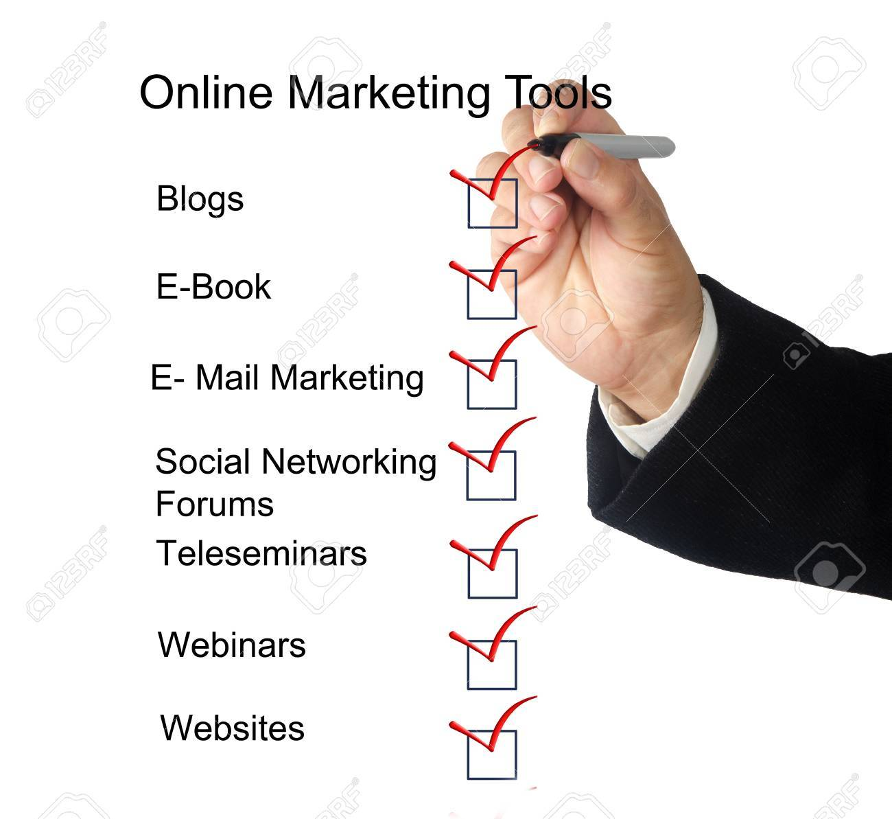 Online marketing tools Stock Photo - 10735415