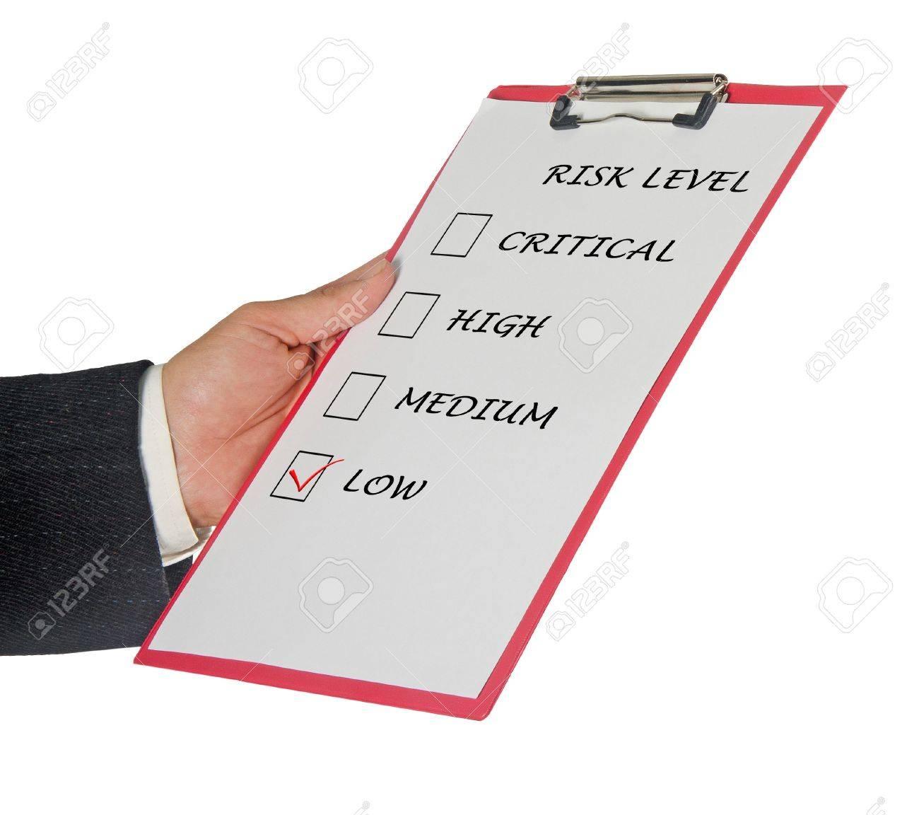 Checklist for risk level Stock Photo - 11404638