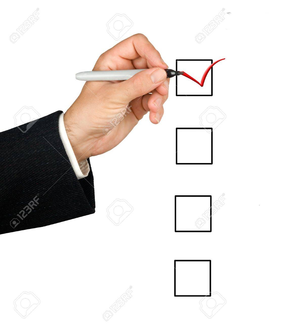 hand and checklist Stock Photo - 11688057