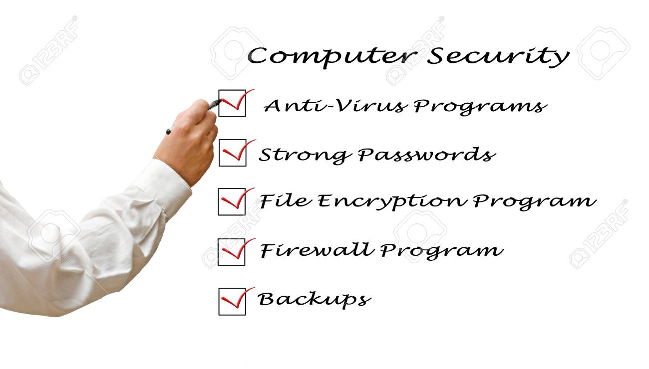 Checklist for computer security Stock Photo - 12505019