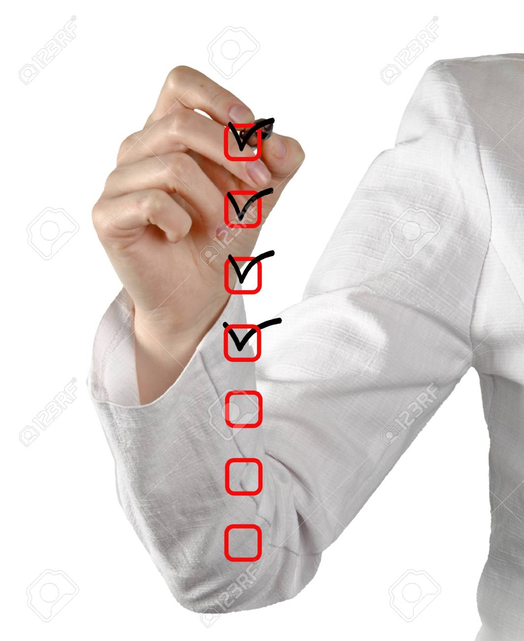 Filling Check list Stock Photo - 12657690