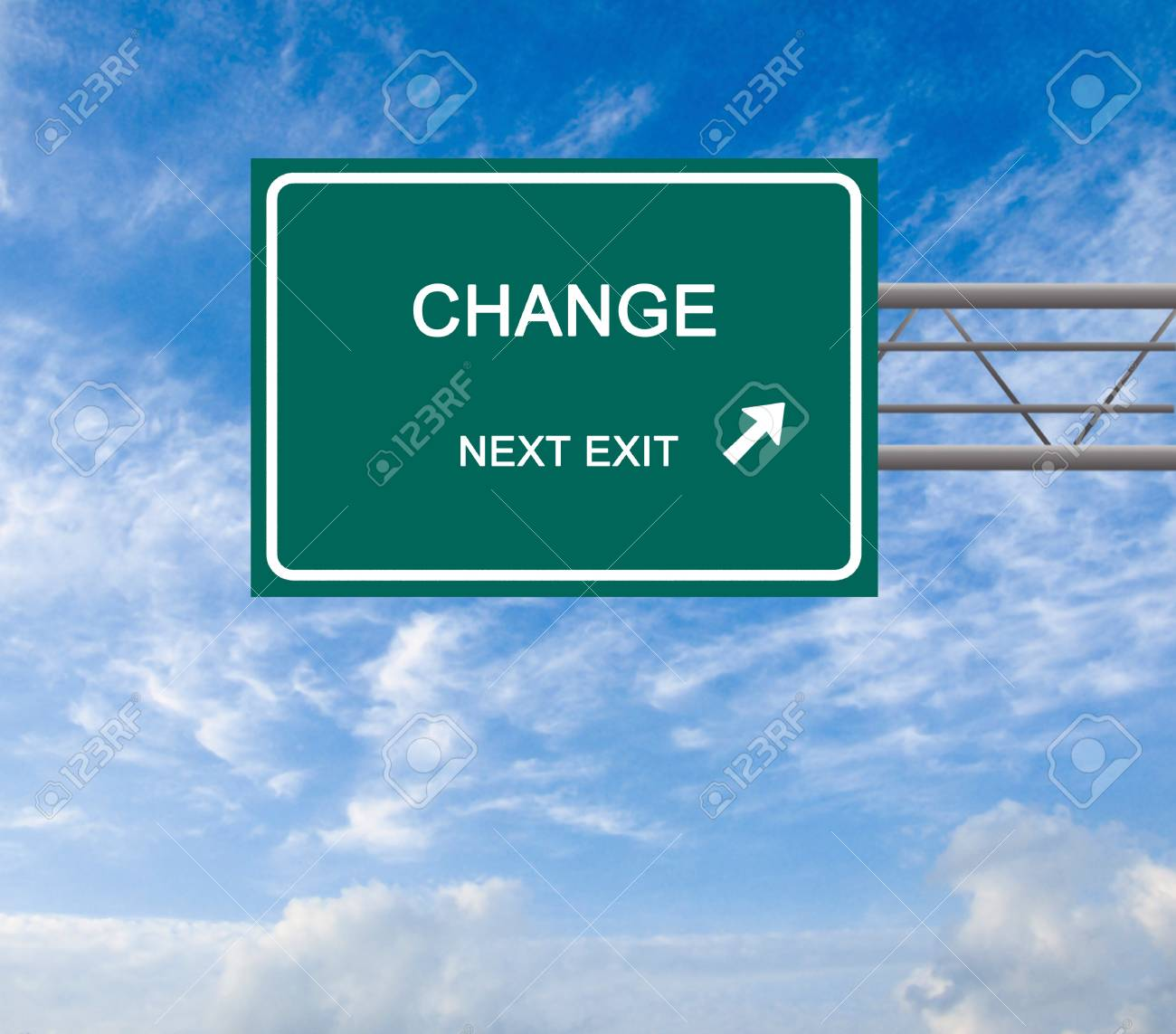 Road sign to change Stock Photo - 12992279