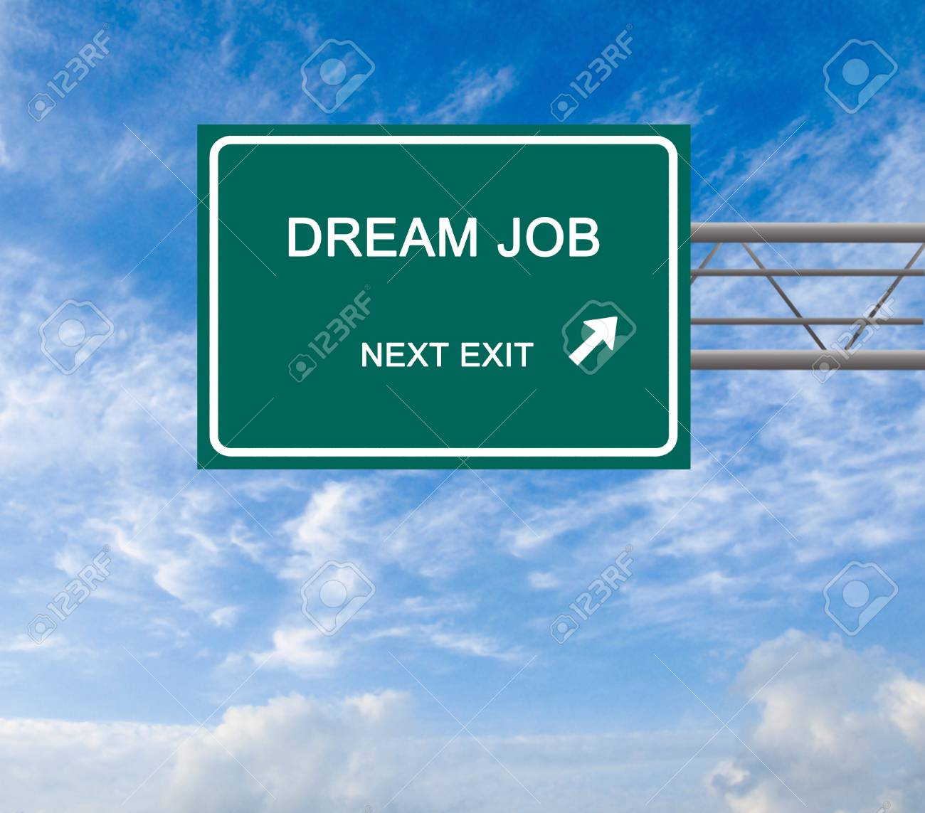 Road sign to dream job Stock Photo - 13054193